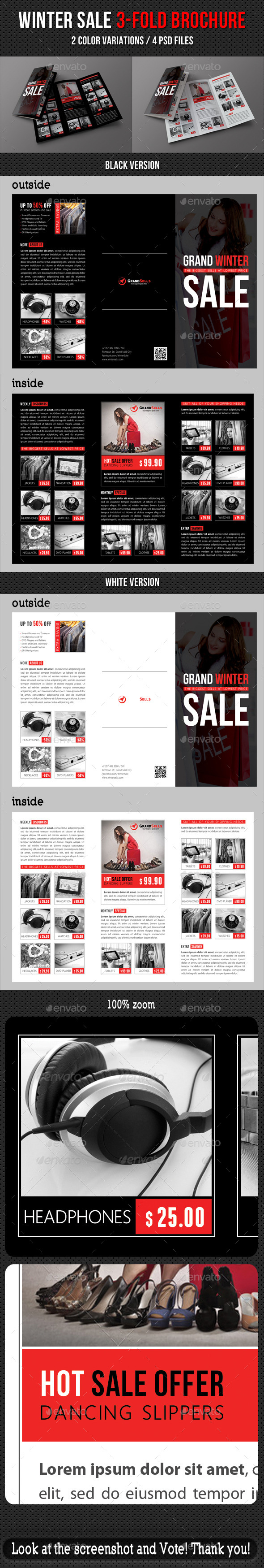 Winter Sale 3-Fold Brochure - Corporate Brochures