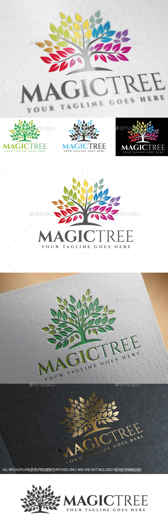 Magic Tree Logo Template - Nature Logo Templates