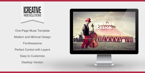 iCreative – Portfolio Muse Template