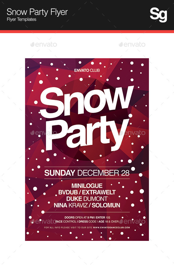 Snow Party Flyer - Holidays Events