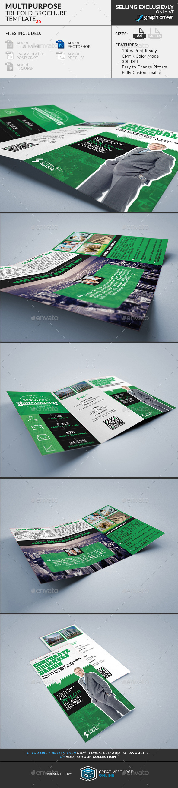 Trifold Brochure 30 : Multipurpose - Corporate Brochures