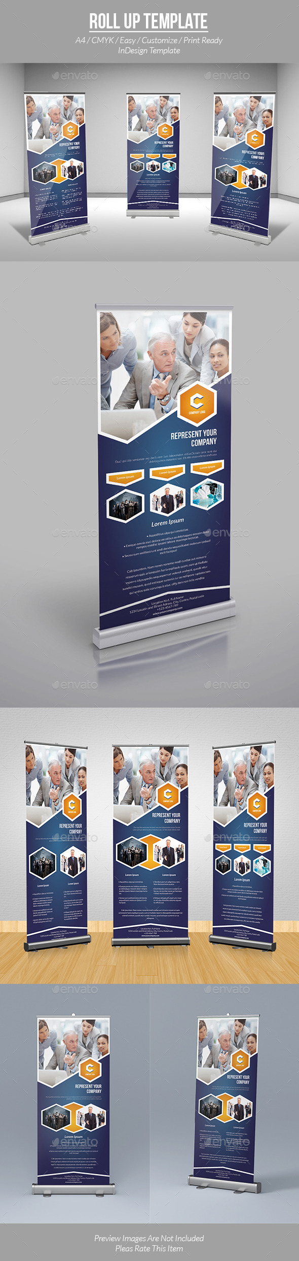 Roll Up Template - Informational Brochures