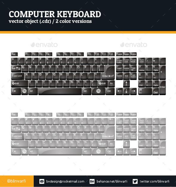 Computer Keyboard - Objects 3D Renders