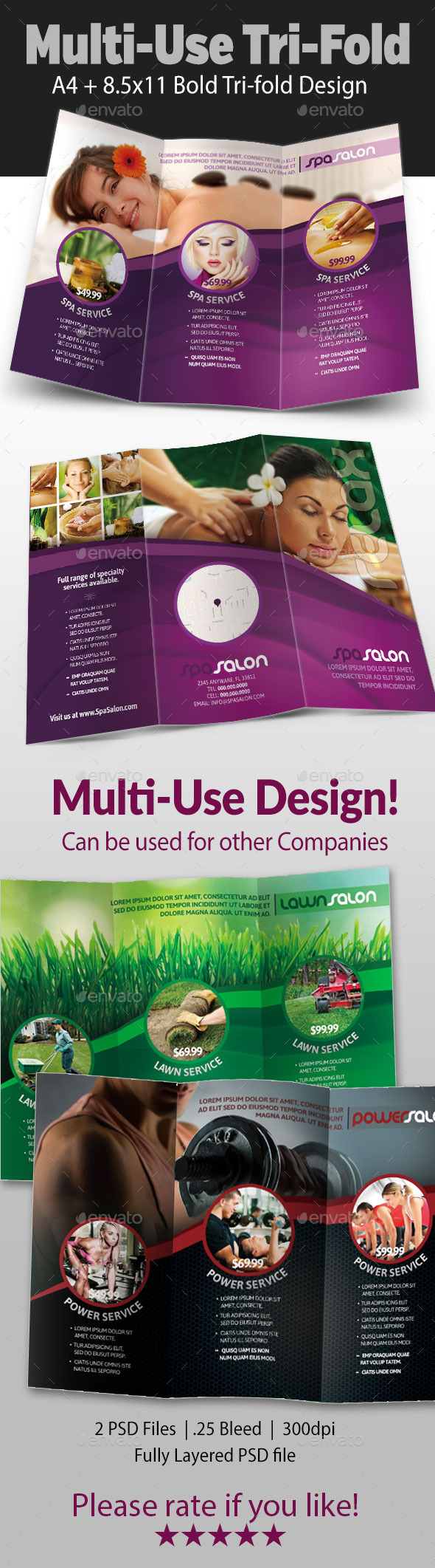 Multi-use Tri-fold Flyer - Commerce Flyers