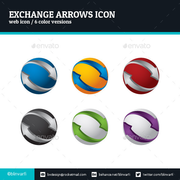 Exchange Arrows Icon - Web Icons