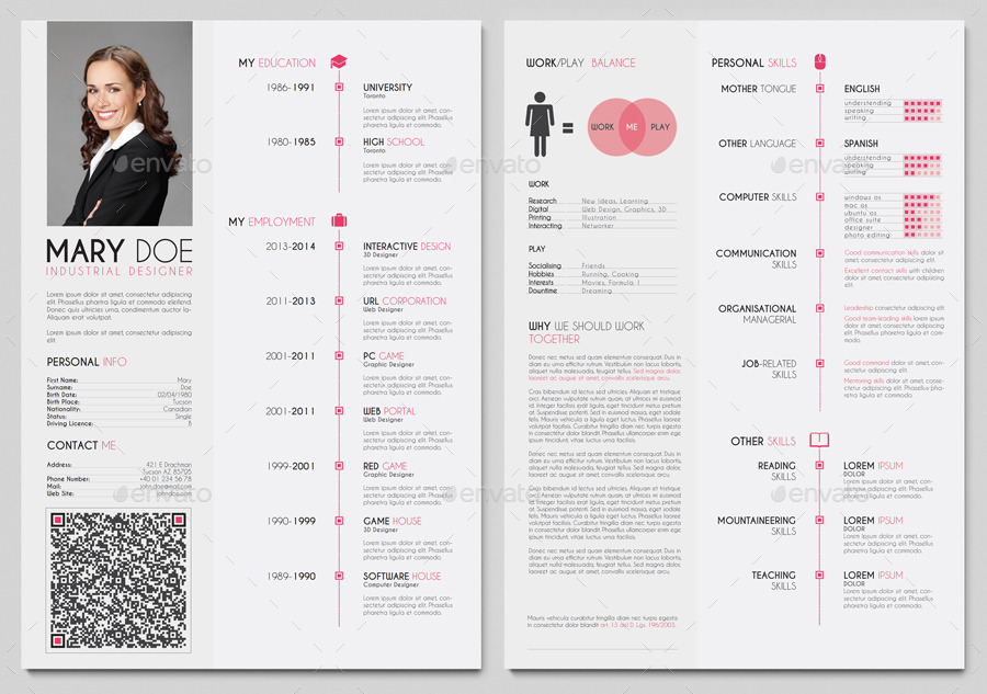 Clean European Resume Cv By Gfsolutions Graphicriver