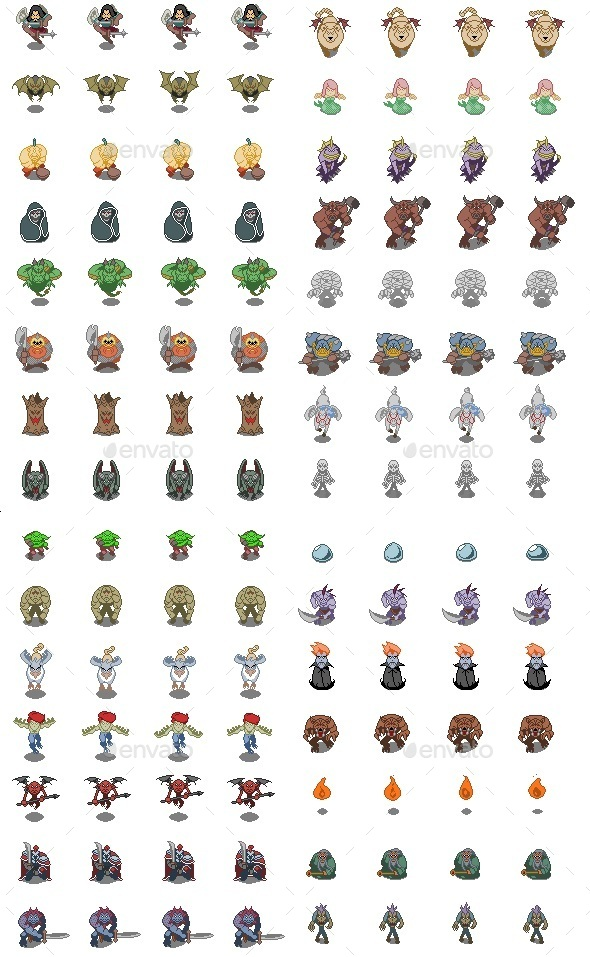 pixel monster set by mrthenoronha graphicriver