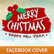 Merry Christmas Facebook Profile Cover - GraphicRiver Item for Sale