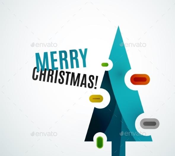 Geometric Christmas Tree - Christmas Seasons/Holidays