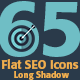 65 Flat SEO Icons - GraphicRiver Item for Sale
