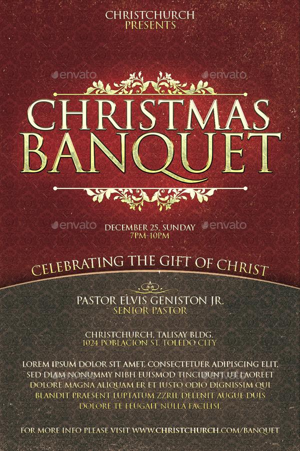 christmas banquet church flyer by deconstancio