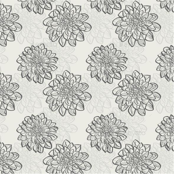 Flower Pattern - Backgrounds Decorative