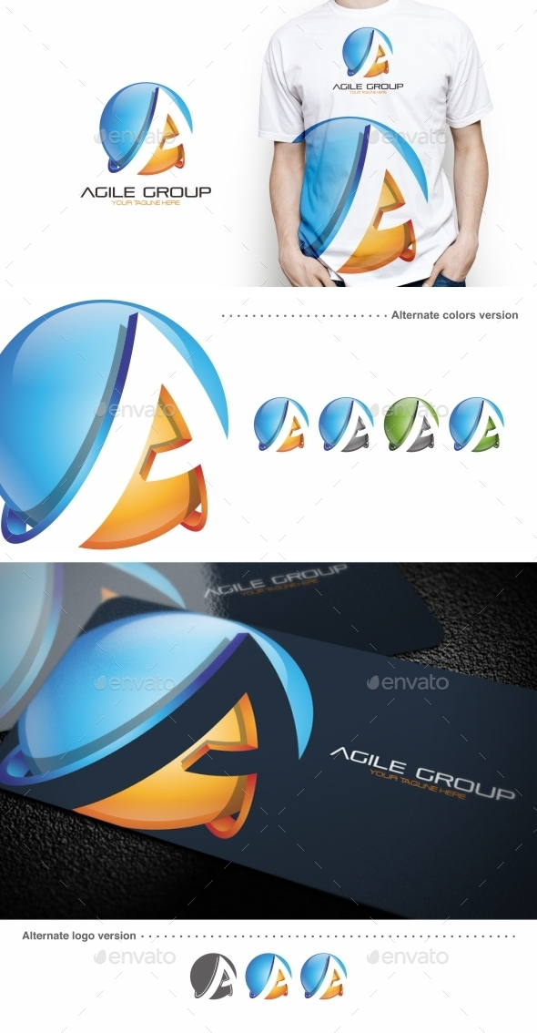Agile Group / A Letter - Logo Template - Letters Logo Templates