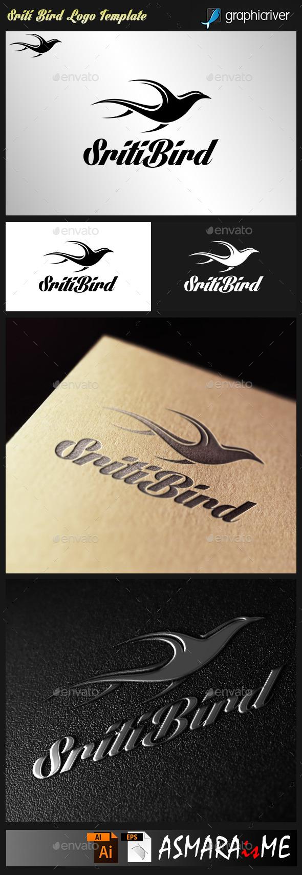 Sriti Bird - Flying Bird logo - Animals Logo Templates