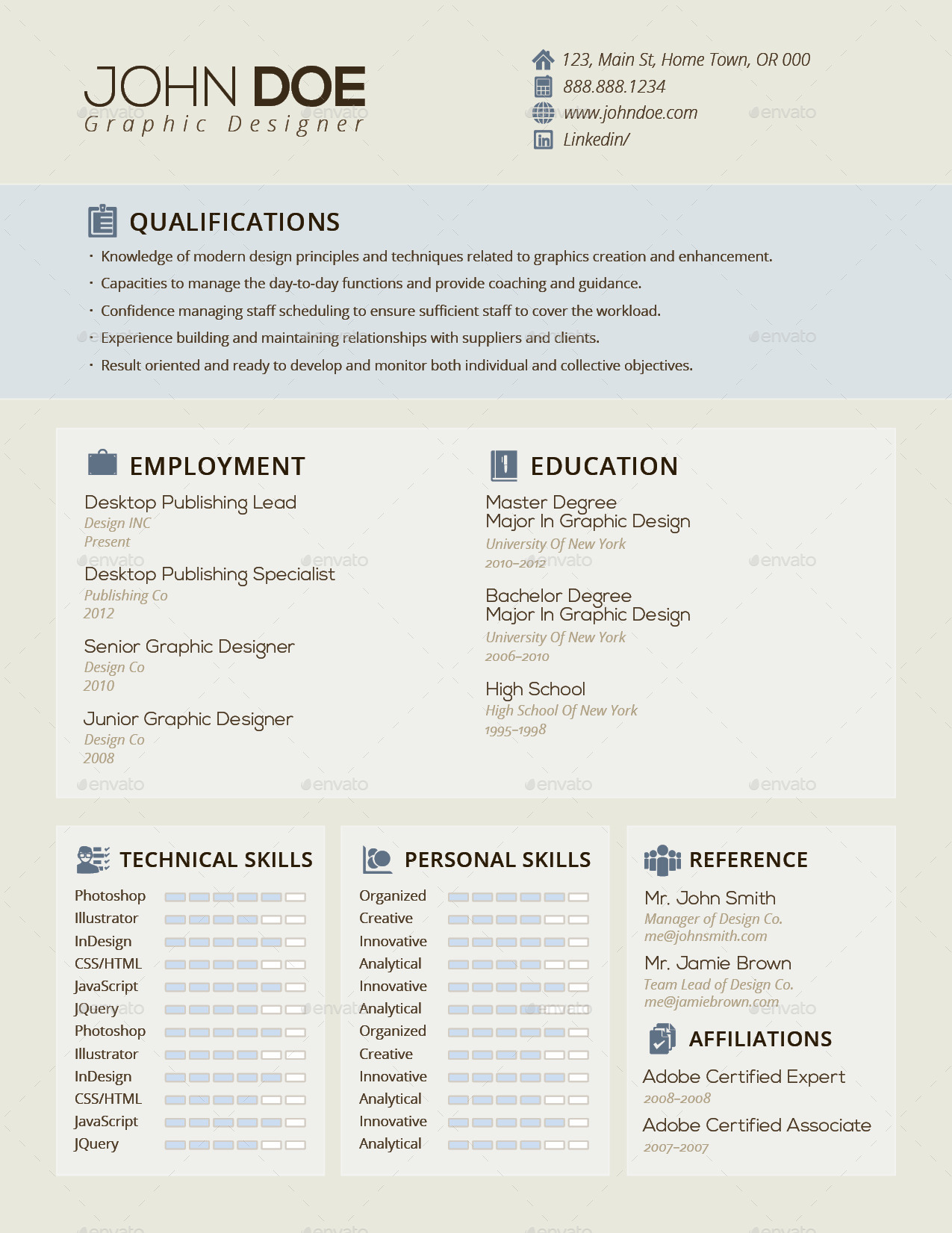 3-in-1 Deal: Resume Template + Icons + Business Card, Business S ...