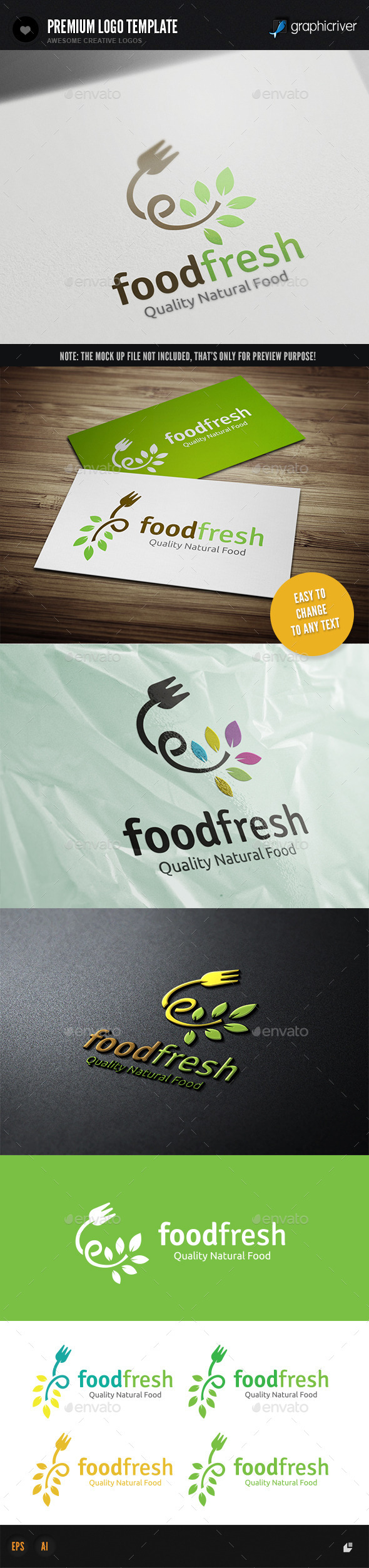 Food Fresh - Nature Logo Templates