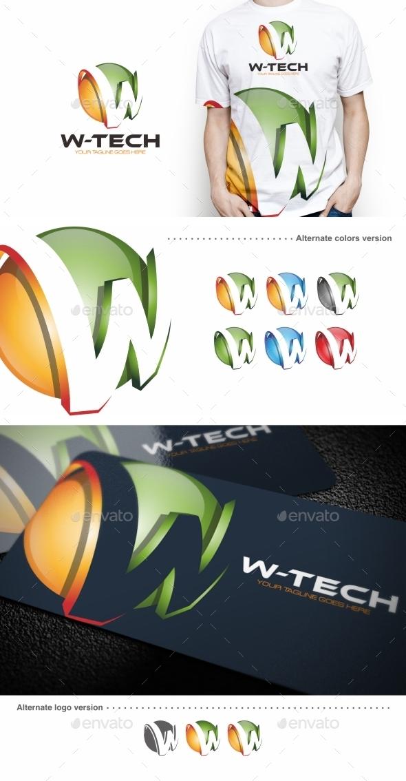 W-tech / W Letter - Logo Template - Letters Logo Templates