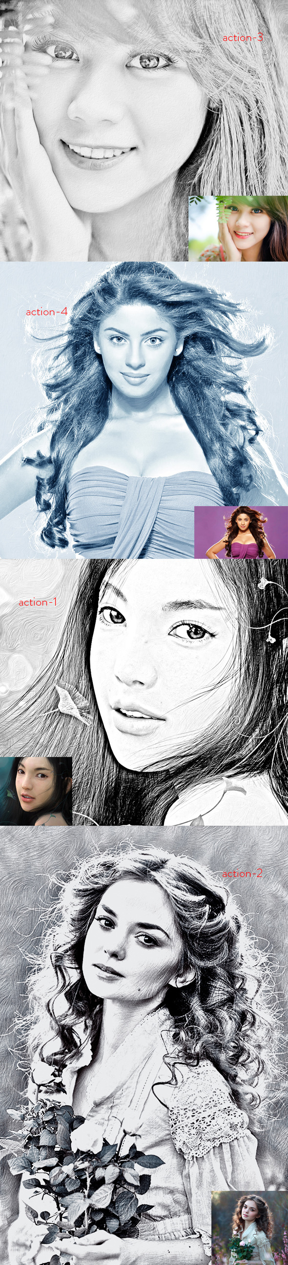 Exclusive Sketch Action - Photo Effects Actions