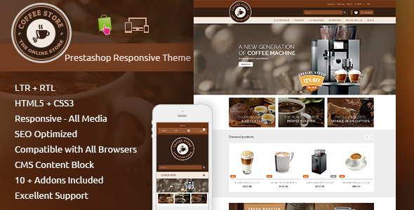 Coffee – Prestashop Responsive Theme