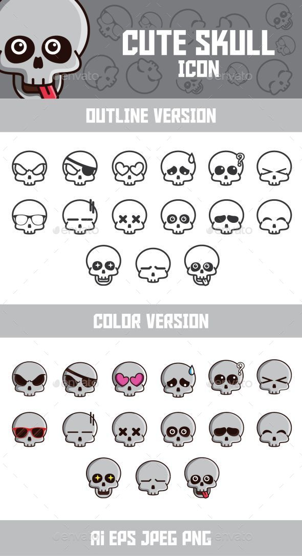 Funny Skull Emoticon - Characters Icons