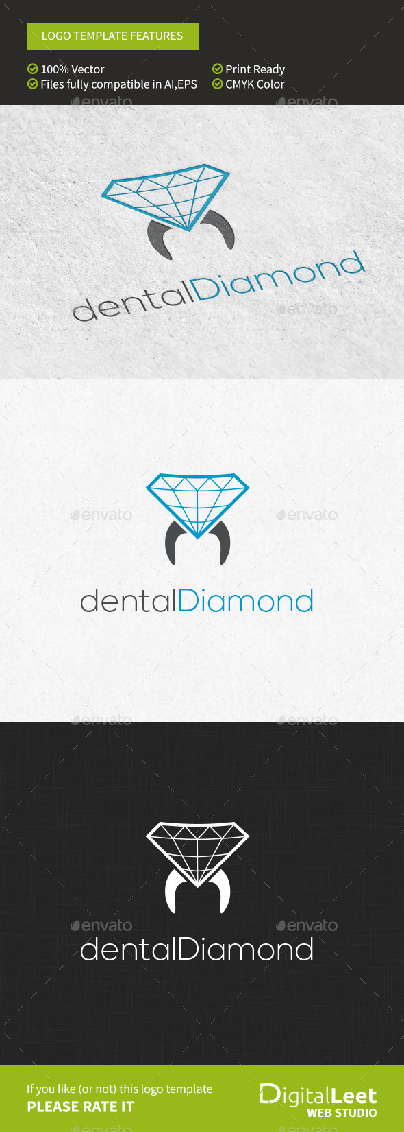 Dental Diamond - Symbols Logo Templates
