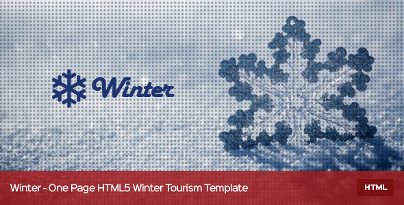 Winter – One Page HTML5 Winter Tourism Template