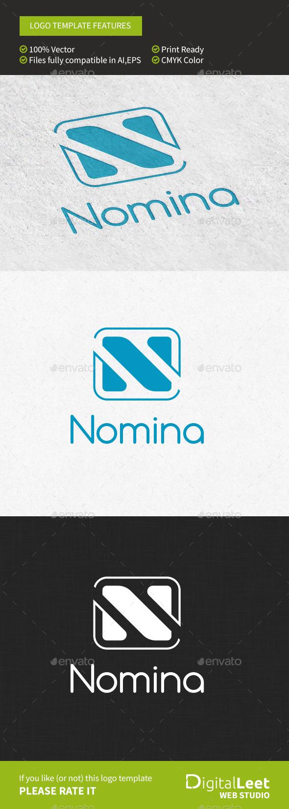 "Nomina ""N"" Letter - Letters Logo Templates"