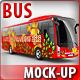 Bus, Coach Bus, Tourist bus, mock-up - GraphicRiver Item for Sale