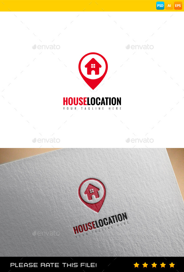 House Location Logo - Buildings Logo Templates