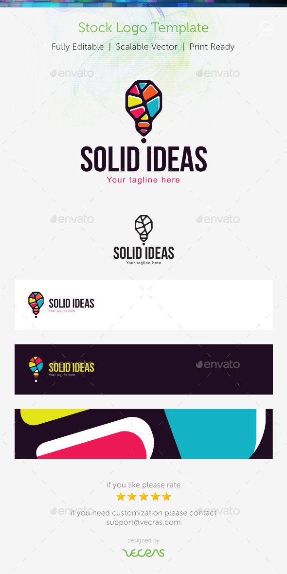 Solid Ideas  Stock Logo Template  - Symbols Logo Templates
