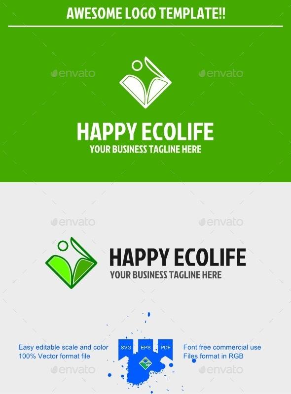Eco life logo - Humans Logo Templates
