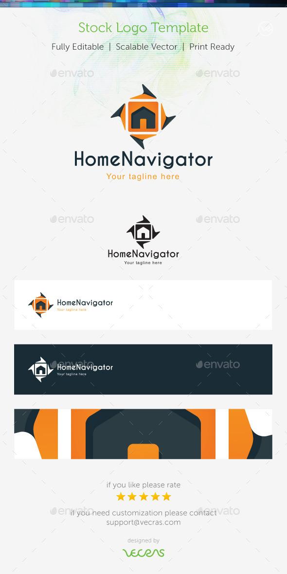 Home Navigator Stock Logo Template - Buildings Logo Templates