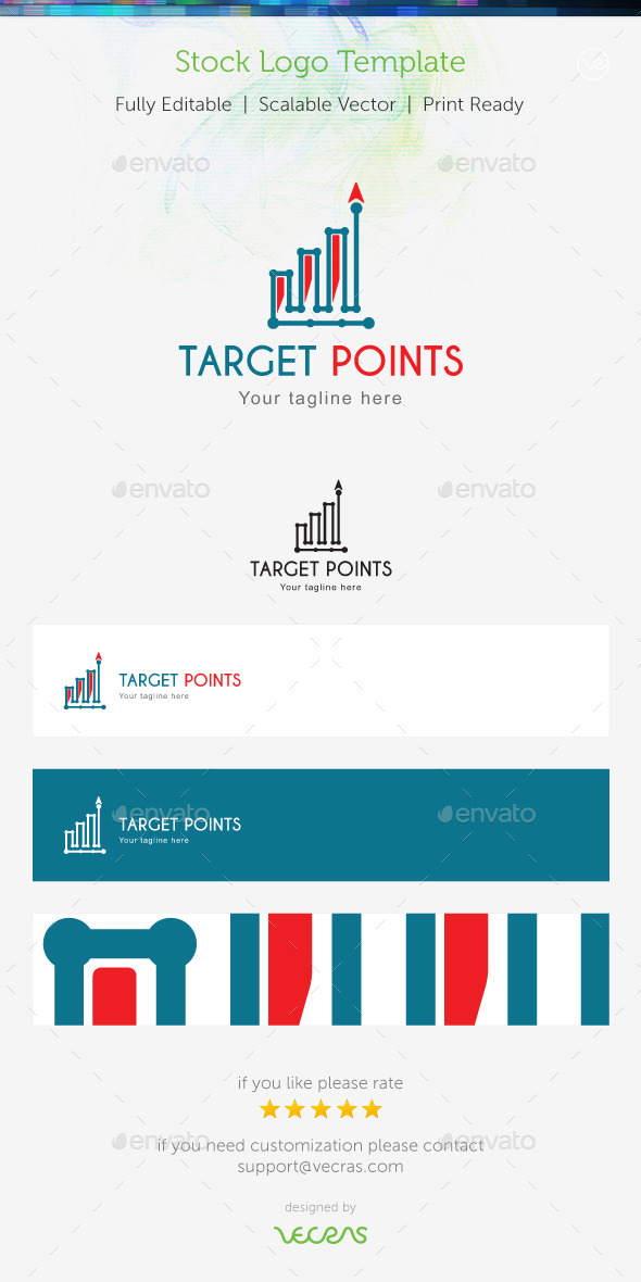 Target Points Stock Logo Template - Abstract Logo Templates
