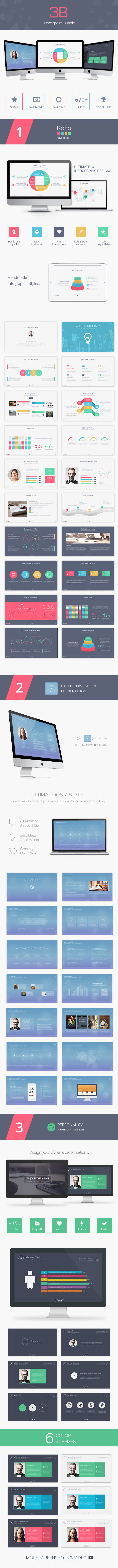 3B Powerpoint Bundle - PowerPoint Templates Presentation Templates