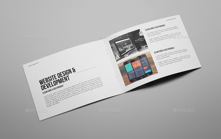 creative agency a5 portfolio brochure by giantdesign graphicriver