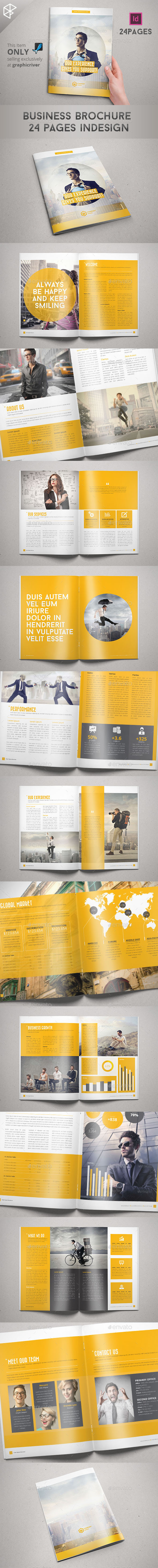 Business Brochure 24 Pages Indesign - Informational Brochures