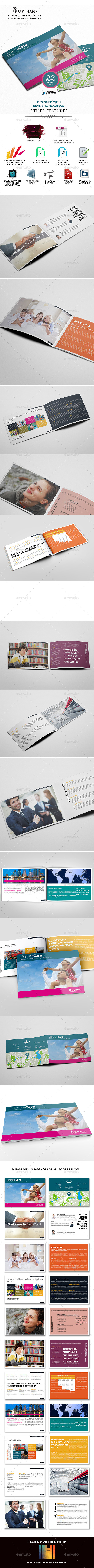 Landscape Brochure for Insurance Companies - Corporate Brochures