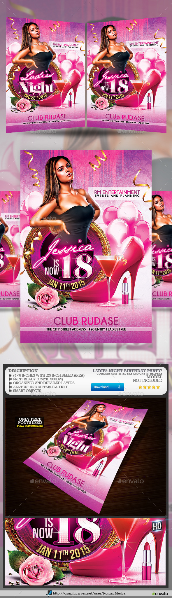 Ladies Night Birthday Party - Clubs & Parties Events