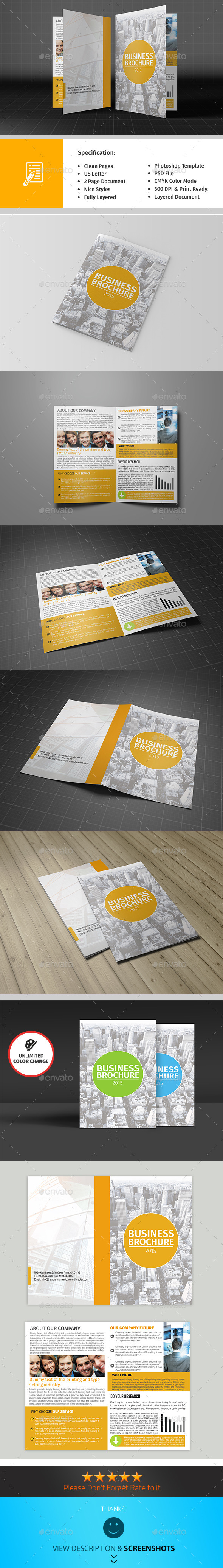 Bifold Corporate Brochure Template Vol03 - Corporate Brochures