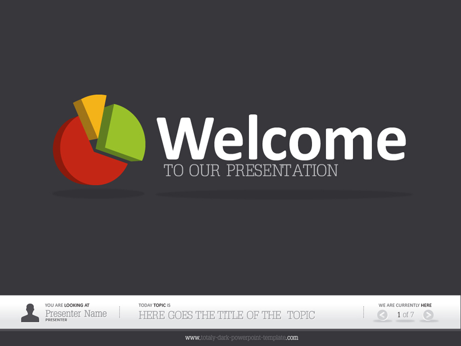 dark powerpoint template by alanmolnar  graphicriver, Powerpoint