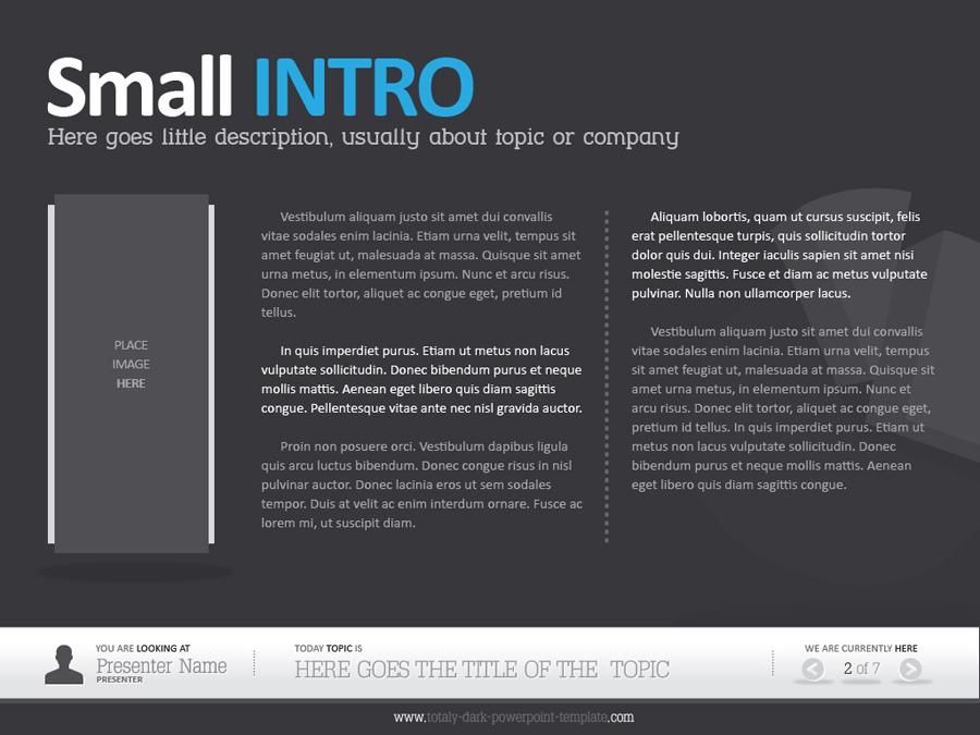 Dark Powerpoint Template by alanmolnar | GraphicRiver