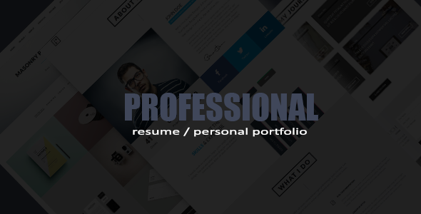 Professional Resume / Portfolio HTML Template by ThemeElegant