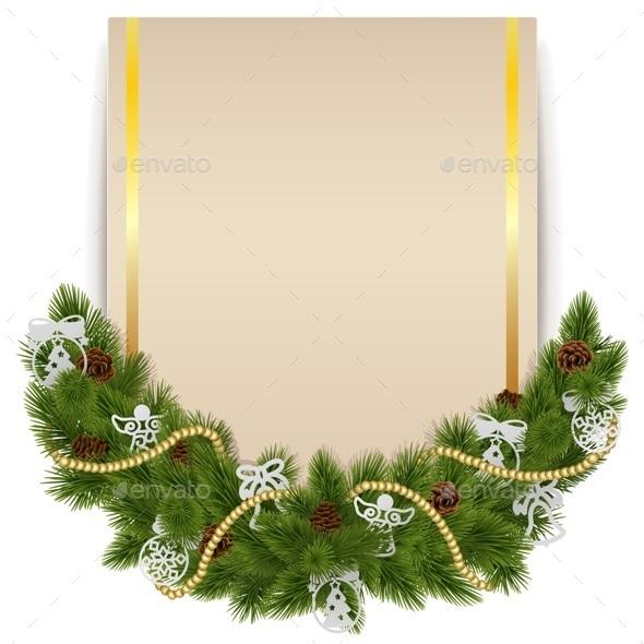 Christmas Decoration with Card - Christmas Seasons/Holidays