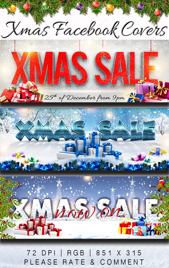 Christmas Sale Facebook Covers - Facebook Timeline Covers Social Media