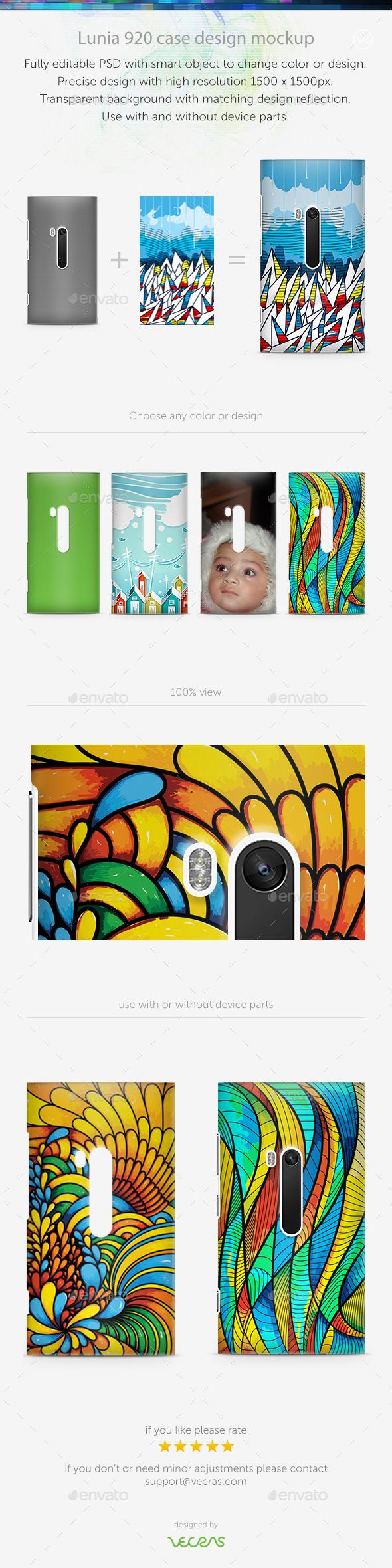 Lunia920 Case Design Mockup - Mobile Displays