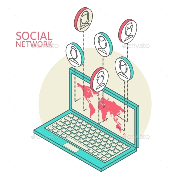 Conceptual Image with Social Networks - Web Technology