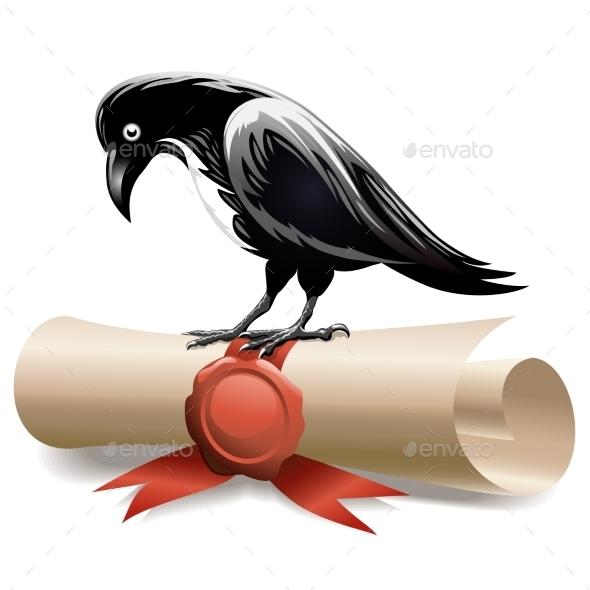 Black Raven and Diploma - Animals Characters