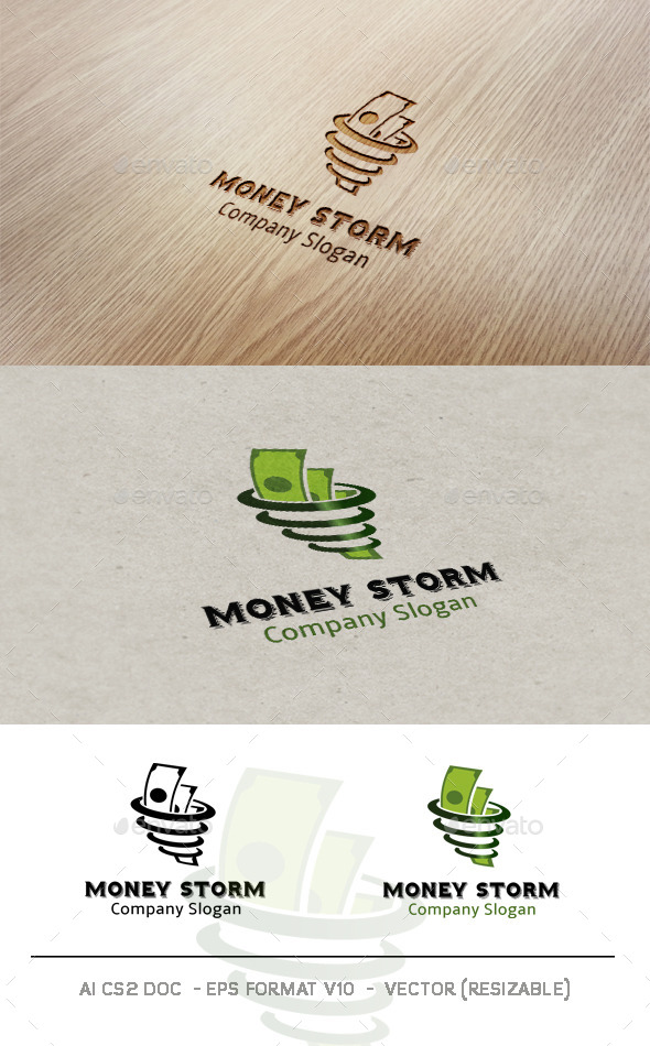 Money Storm logo - Symbols Logo Templates