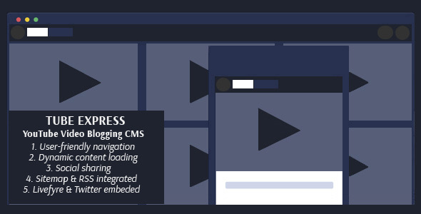 Tube Express - Video Blogging CMS - CodeCanyon Item for Sale