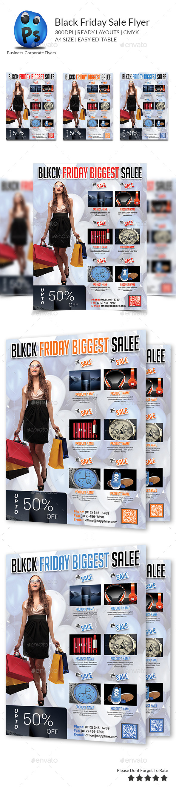 Black Friday Sale Flyer - Corporate Flyers
